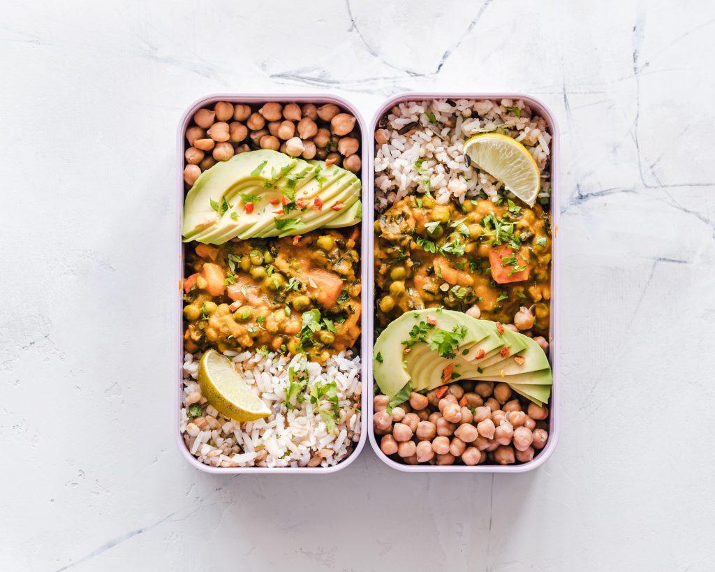 Bonen meal prep vegan
