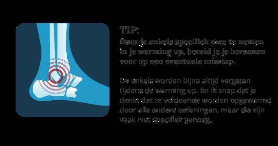 Afbeelding van een tip om een enkelblessure te voorkomen
