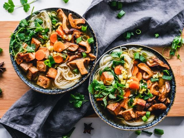 Vegan tofu avondeten