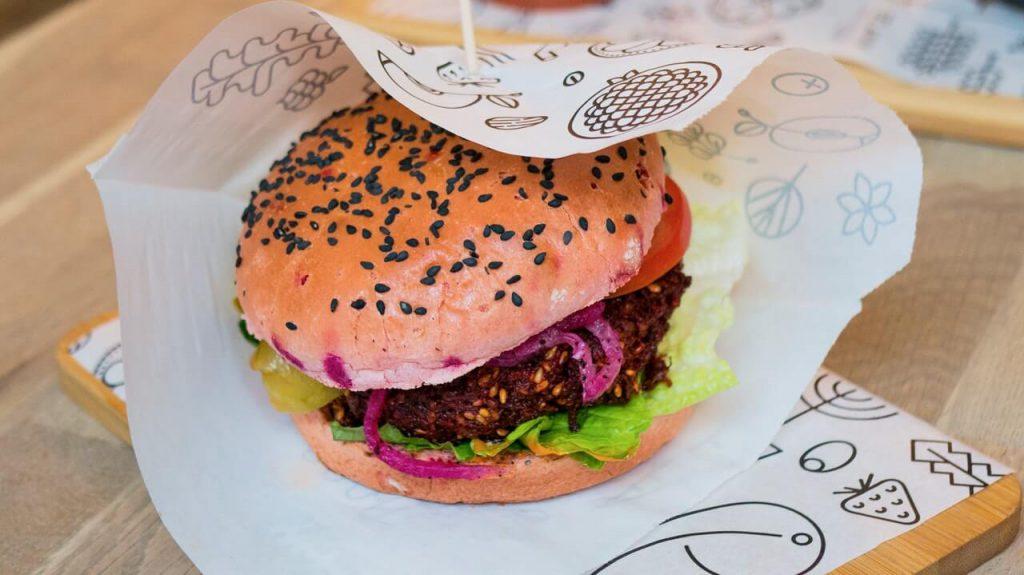 plantaardige hamburger